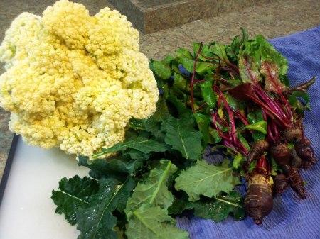 Cauliflower, Kale & Beets