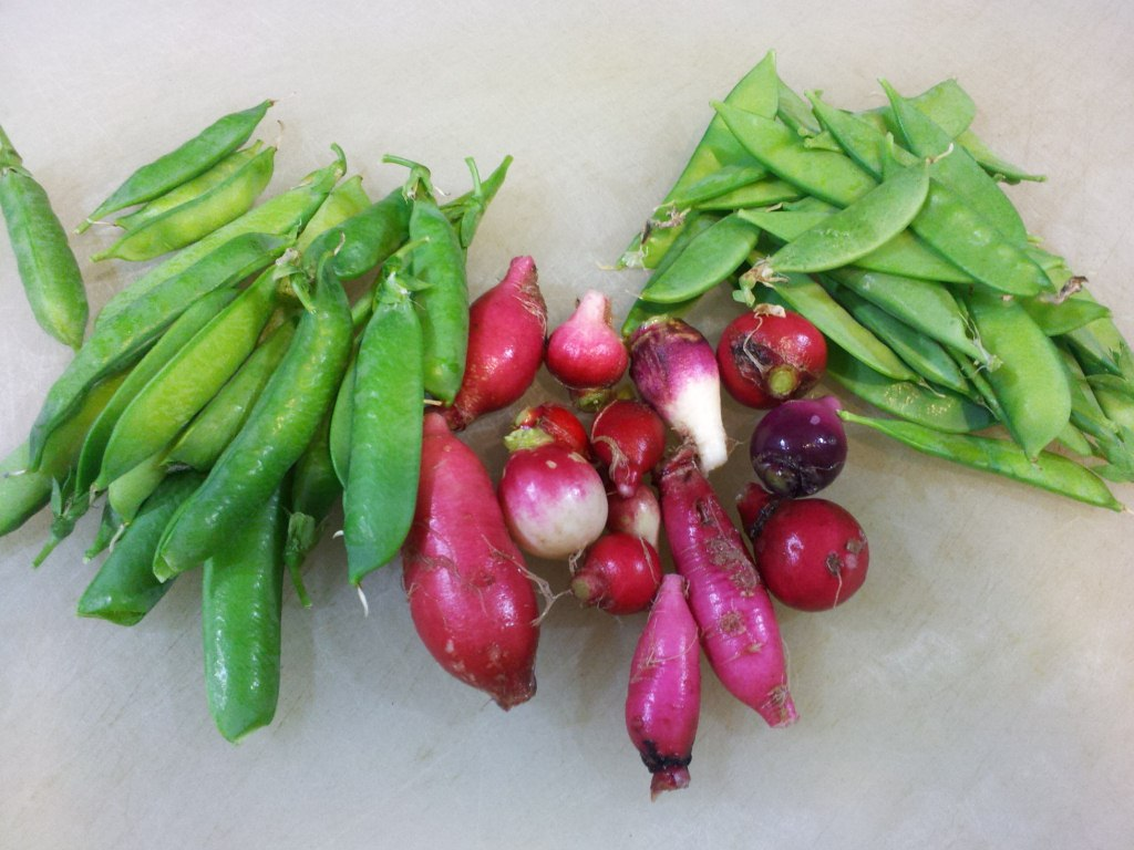 Butter Braised Radishes With Snow Peas Recipe — Dishmaps